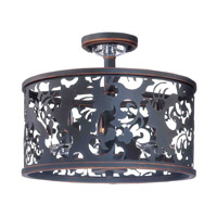 Kalco Ophelia 3 Light Semi Flush Mount in Antique Copper 2534AC