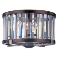 Foster 4 Light 16 inch Etruscan Silver Flush Mount Ceiling Light in Without Crystals, Grecian Bronze