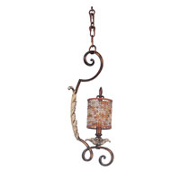 Kalco Chesapeake 1 Light Mini Pendant in Tuscan Gold 2560TG/S300