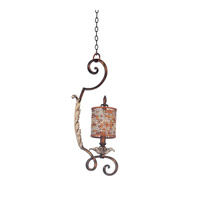 Chesapeake 1 Light 8 inch Sienna Bronze Mini Pendant Ceiling Light in Tuscan Gold, Without Glass, Color Beaded Drum (S293) FALL CLEARANCE