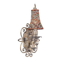 Chesapeake 1 Light 11 inch Sienna Bronze Bath Light Wall Light in Clear Beaded Tapered (S294), Antique Silver Leaf FALL CLEARANCE
