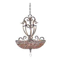 Kalco Chesapeake 6 Light Pendant in Antique Silver Leaf 2566AF