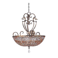 Kalco Lighting Chesapeake 7 Light Pendant in Antique Silver Leaf 2567AF