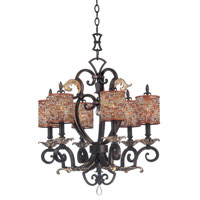 Kalco Chesapeake 6 Light Chandelier in Sienna Bronze 2571SB/S293