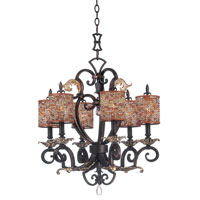 Chesapeake 6 Light 24 inch Sienna Bronze Chandelier Ceiling Light in Color Beaded Tapered (S292) FALL CLEARANCE