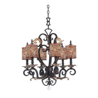 Kalco 2571SB/S293 Chesapeake 6 Light 24 inch Sienna Bronze Chandelier Ceiling Light in Color Beaded Drum (S293) FALL CLEARANCE photo thumbnail