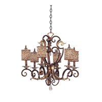 Kalco Chesapeake 6 Light Chandelier in Tuscan Gold 2572TG/S293