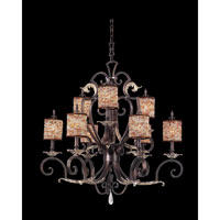 Chesapeake 9 Light 34 inch Sienna Bronze Chandelier Ceiling Light in Color Beaded Drum (S293) FALL CLEARANCE