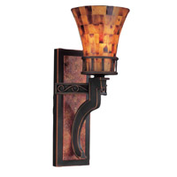 Marlowe 1 Light 6 inch Sienna Bronze Wall Bracket Wall Light in Antique Copper, Without Glass