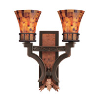 Marlowe 2 Light 16 inch Tuscan Gold Wall Bracket Wall Light in Without Glass FALL CLEARANCE