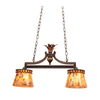 Kalco Lighting Marlowe 2 Light Island Light in Antique Copper 2597AC