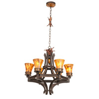 Marlowe 6 Light 28 inch Tuscan Gold Chandelier Ceiling Light in Without Glass, Antique Copper FALL CLEARANCE