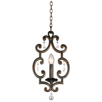 Kalco 2630AC Montgomery 1 Light 9 inch Aged Silver Mini Pendant Ceiling Light in Antique Copper