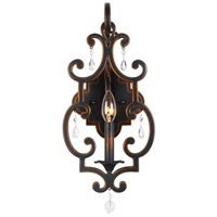 Kalco Montgomery 1 Light Wall Sconce in Antique Copper 2631AC