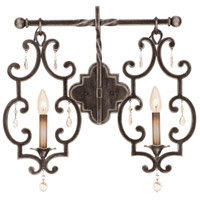 Montgomery 2 Light 21 inch Vintage Iron Bath Light Wall Light