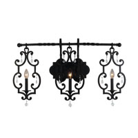 Kalco Montgomery 3 Light Bath Light in Ebony 2633EB