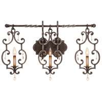 Kalco 2633AC Montgomery 3 Light 34 inch Antique Copper ADA Wall Sconce Wall Light