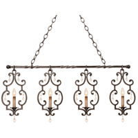Montgomery 4 Light 38 inch Antique Copper Island Light Ceiling Light in Vintage Iron