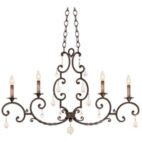 Kalco Lighting Montgomery 4 Light Island Light in Vintage Iron 2636VI