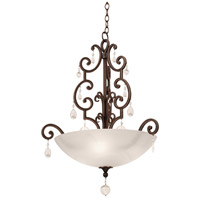 Montgomery 3 Light 25 inch Vintage Iron Pendant Ceiling Light in Without Glass, Antique Copper