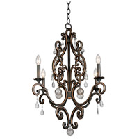 Montgomery 4 Light 26 inch Vintage Iron Chandelier Ceiling Light in Antique Copper