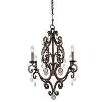 Kalco Montgomery 4 Light Chandelier in Sienna Bronze 2638SB