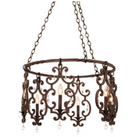 Montgomery 6 Light 27 inch Vintage Iron Chandelier Ceiling Light in Antique Copper