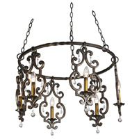 Kalco Montgomery 6 Light Chandelier in Sienna Bronze 2639SB