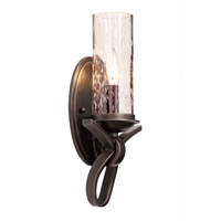 Grayson 1 Light 7 inch Heirloom Bronze Wall Sconce Wall Light in Seeded Side Glass (1100), Without Crystals, Hierloom Bronze