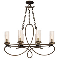 Kalco 2673HB/1100 Grayson 6 Light 34 inch Heirloom Bronze Chandelier Ceiling Light in Without Crystals Hierloom Bronze Seeded Side Glass (1100)
