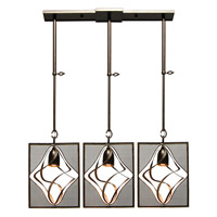 Kalco Oxford 3 Light Mini Pendant in Heirloom Bronze 2696-1HB