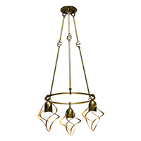 Kalco Oxford 3 Light Chandelier in Aged Silver 2698SV