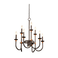 Kalco Lighting Bentham 10 Light Chandelier in Natural Iron 2719NI