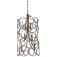 Kalco 2760VI Ashbourne 6 Light 21 inch Vintage Iron Pendant Ceiling Light
