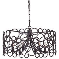 Ashbourne 6 Light 26 inch Vintage Iron Pendant Ceiling Light in Hierloom Bronze