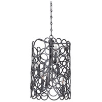 Kalco Lighting Ashbourne 6 Light Foyer Pendant in Vintage Iron 2762VI