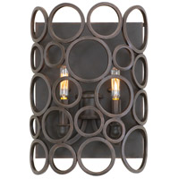 Kalco Ashbourne 2 Light Wall Sconce in Heirloom Bronze 2763HB