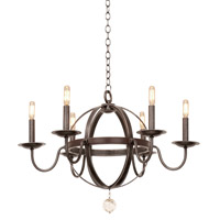 Kalco Lighting Devon 6 Light Chandelier in Vintage Iron 2765VI