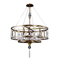 Kalco Lighting Dorrit 8 Light Pendant in Antique Brass 2790AB