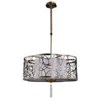 Kalco Dorrit 6 Light Pendant in Antique Brass 2791AB