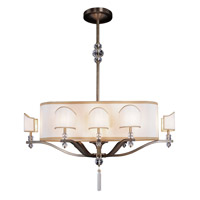 Kalco Sutton 12 Light Chandelier in Antique Brass 2796AB
