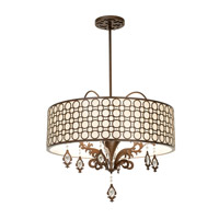 Amesbury 6 Light 31 inch Sienna Bronze Semi Flush Ceiling Light in Chesnut