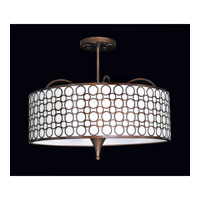 Kalco Amesbury 6 Light Semi Flush Mount in Sienna Bronze 2801SB