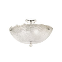 Kalco Croydon 6 Light Semi Flush Mount in Chrome 2808CH
