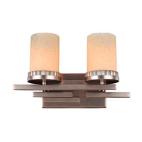 Kalco Brandon 2 Light Wall Bracket in Brushed Bronze 2872BR