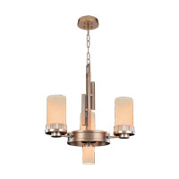 Kalco Brandon 4 Light Mini Chandelier in Brushed Bronze 2876BR