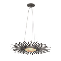 Polaris LED 28 inch Florence Gold Pendant Ceiling Light in Moon Silver