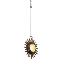 Kalco 2886FG Polaris 1 Light 12 inch Moon Silver Mini Pendant Ceiling Light in Florence Gold FALL CLEARANCE
