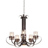 Kalco 2890VI Bexley 6 Light 28 inch Vintage Iron Chandelier Ceiling Light
