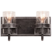 Bexley 2 Light 13 inch Vintage Iron Vanity Light Wall Light